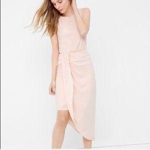 Whbm NWT 🆕 blush pink midi drape dress xs